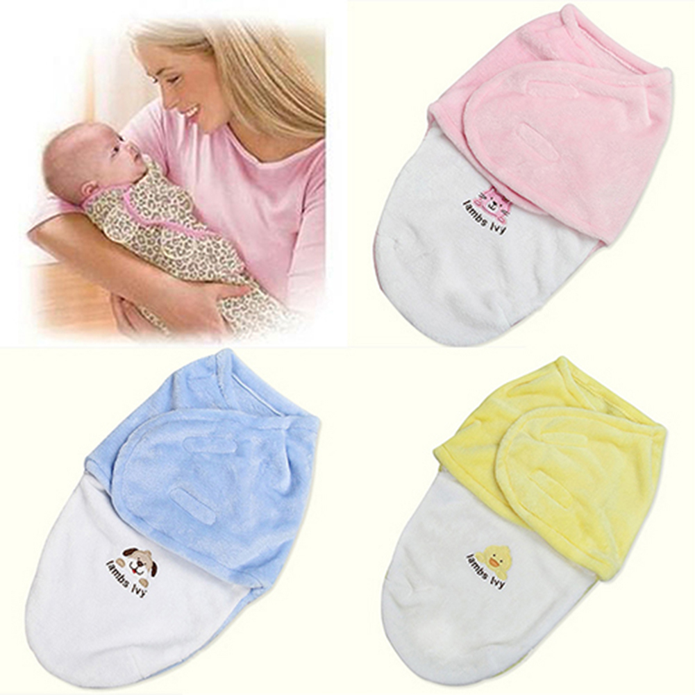 For Newborn Blanket Fleece Sleeping Bag Baby Product Swaddle